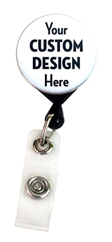 Buttonsmith CUSTOM Deluxe Retractable Badge Reel With Alligator Clip and Extra-Long 36 inch Standard Duty Cord - Made in the USA, 1 Year Warranty
