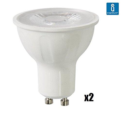 Pack de 2 Bombillas LED GU10 COB, 6W, 330 lumen, luz blanca 6400K: Amazon.es: Iluminación