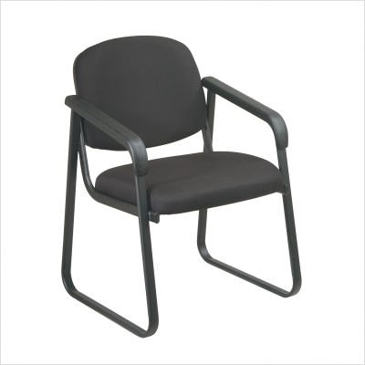 Office Star Deluxe Sled Base Arm Chair with Designer Plastic Shell - (Sled Shell)