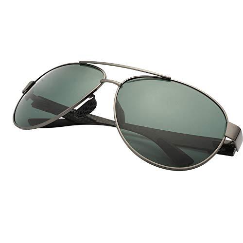 LKVNHP Nueva Vintage Gafas De Sol Hombres Polarizado Fibra ...