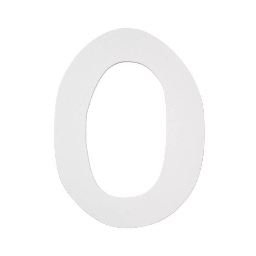 Darice 9185-O Wood Letters, Dot to Dot O, White, 5-Inch (5 Inch Wood Letters Craft)