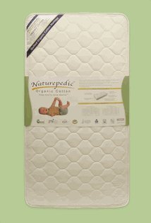 Deluxe Crib Organic (Naturepedic Crib Mattress Quilted Organic Cotton DELUXE 252 Coil by Naturepedic)
