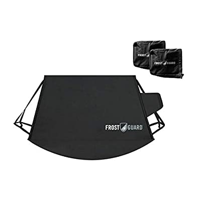 FrostGuard Signature with Mirror Covers | Premium Winter Windshield Cover with Security Panel and Wiper Cover, Protects from Snow, Ice and Frost, Fits Most Cars, Trucks and SUVs