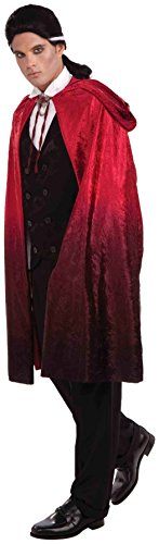 Forum Novelties 45-Inch Red Ombre Cape, Red, One Size -