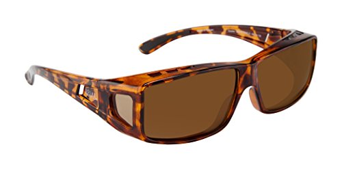 Gravity Over Fit Sunglasses - Tortoise/polarized Brown - Fits 147mm W X 40mm H ()