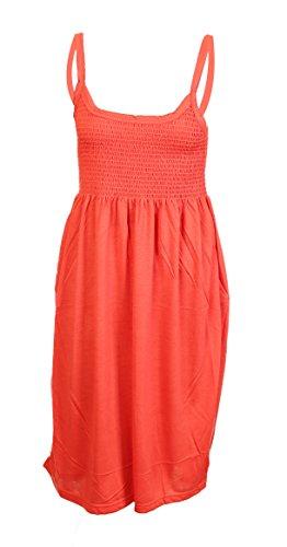 Lets Shop Shop - Camiseta sin mangas - Sin mangas - para mujer naranja