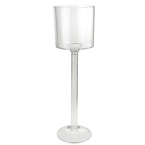 Homeford Tall Clear Wine Cup Stand Glass Vase, 18-Inch