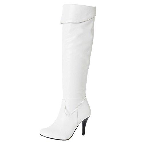 donna sintetico materiale sottile in White Nonbrand con ginocchio da al tacco zxq6q85U