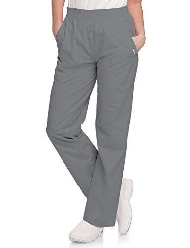 Landau Women's Plus Classic Relaxed Fit Medical Scrub Pant, Steel Grey, ()