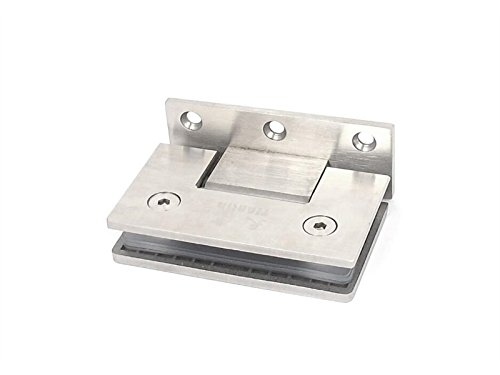Hezon Thick Stainless Steel Bathroom Stair Glass Clip Clamp Support (Silver Tone) EASY TO USE
