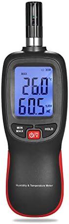 Medidor de temperatura e umidade digital LCD Termo-higrômetro Mini termôme-tro higrômetro Psicrômetro Bulbo úm