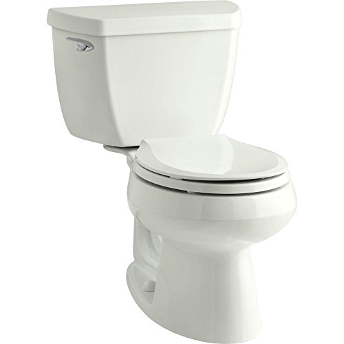 Kohler K-3577-0 Wellworth Classic 1.28 gpf Round-Front Toilet with Class Five Flushing Technology and Left-Hand Trip Lever, White (Piece Wellworth Two Toilet)