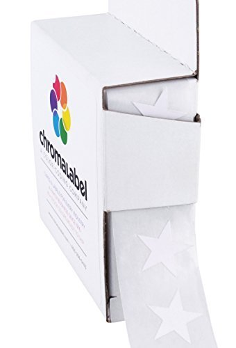 ChromaLabel 3/4 inch Color-Code Star Labels | 1,000/Dispenser Box (White)