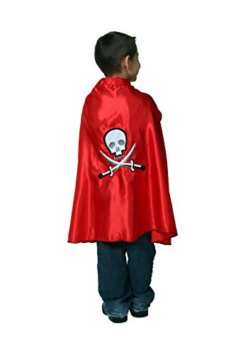 Captain Howdy Costumes - Kids Carribean Pirate Captain Skull Dressup