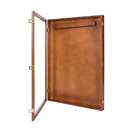 Kinbor Jersey Display Frame Case Large Frames Shadow Box Lockable with Hanger and Wall Mount Option for Baseball Basketball Football Soccer Hockey Sport Shirt