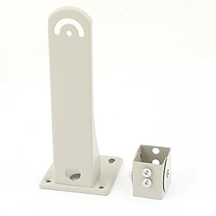 eDealMax 6.5 Beige Metal Escuadra de pared soporte Para las cámaras CCD de Seguridad CCTV