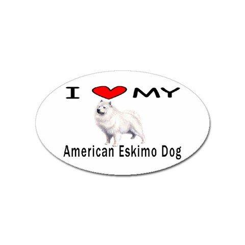 (I Love My American Eskimo Dog Oval)