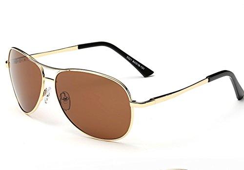 gafas personas de Box gafas hombre Metal conductor de sol de conducir de afluencia Hombres conducir sol la yurt masculino sol espejo de sol polarizador gafas Gafas hombres Brown Sheet wIHZfx