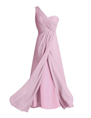 iEFiEL Vestido de Gasa Cóctel Fiesta Noche para Mujer Vestido de Boda de Modas para Dama de Honor Rosa