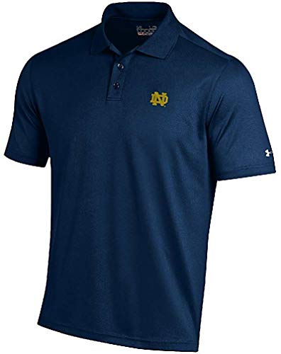 (Under Armour Notre Dame Fighting Irish Mens Navy Performance Polo Shirt (XL))