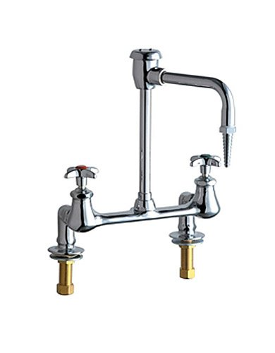 Chicago Faucets 947-CP Above-Deck Mount Laboratory Water Fitting, Chrome