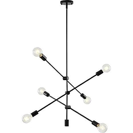 Amazon.com: Moderna lámpara de techo Sputnik de 6 luces ...