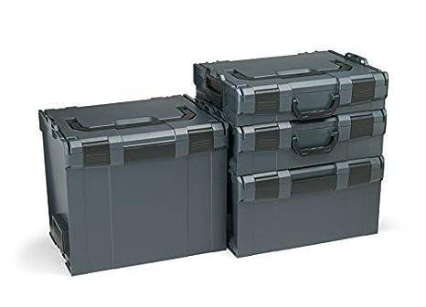 Bosch Sortimo L-Boxx Werkzeugkoffer Set   Grö ß e 102-374 in Anthrazit   Inklusive L-Boxx Mini   Bosch Werkzeugkoffer Leer   Kompatibel mit L-Boxx BS Systems