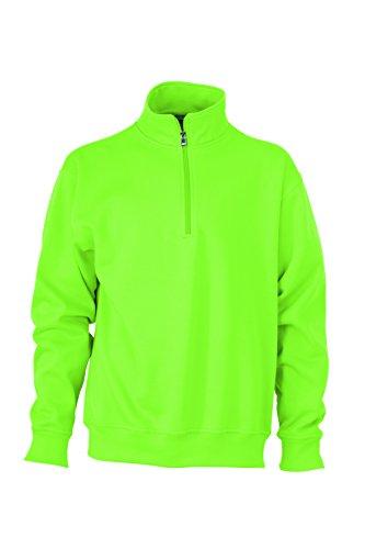 Media de lima 2store24 Sudadera Verde cuello con cremallera y trabajo cremallera C0Cw1Xq