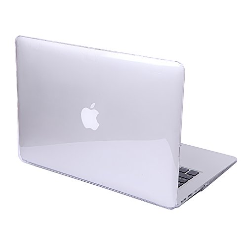 HDE Clear MacBook Air 13 inch Case - Protective See Thru Cover Transparent Plastic Hard Shell for Apple Mac 13