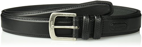 Columbia Men's 1 9/16 in. Oil Tan Leather Belt,Black,40 Black Leather Etched Buckle Belt