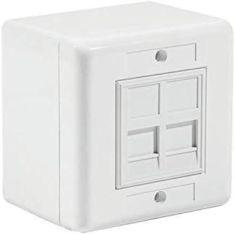 Caja Pared en superficie, 2 RJ45 CAT6 UTP.: Amazon.es: Informática