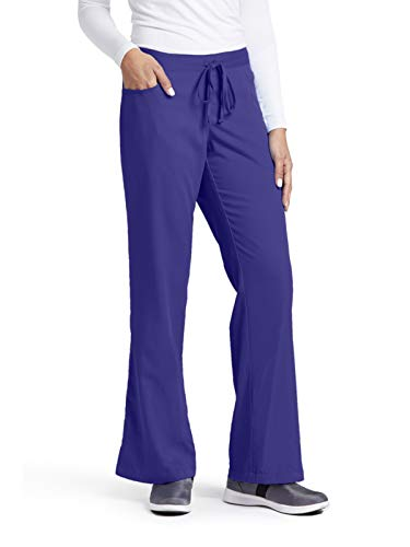 (Grey's Anatomy Women's Junior-Fit Five-Pocket Drawstring Scrub Pant - Medium - Purple Rain)