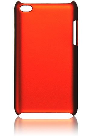 Case Rubber Crystal Generation (Premium Rubberized Hard Crystal Case Cover for Apple iPod Touch 4G, 4th Generation, 4th Gen - Orange, Seamless Rear Case Only)