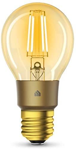 Kasa Smart Wi-Fi LED Bulb by way of TP-Link, Filament A19 E26 Smart Light Bulb, Warm Amber 2000K, Dimmable, No Hub Required,Compatible with Alexa & Google Assistant,Antique Vintage Style (KL60)