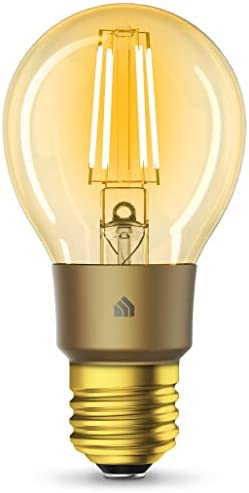 Kasa Smart Wi-Fi LED Bulb by TP-Link, Filament A19 E26 Smart Light Bulb, Warm Amber 2000K, Dimmable, No Hub Required,Compatible with Alexa Google Assistant,Antique Vintage Style KL60