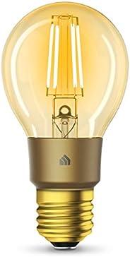 Kasa Smart Wi-Fi LED Bulb by TP-Link, Filament A19 E26 Smart Light Bulb, Warm Amber 2000K, Dimmable, No Hub Re