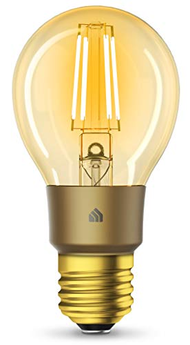 TP-Link Kasa Smart Wi-Fi LED Bulb, Filament E26 Smart Light Bulb, Warm Amber 2000K,Dimmable,No Hub Required, Compatible with Alexa & Google Assistant (KL60)