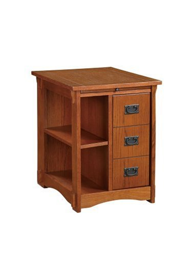 Powell ''Mission Oak'' Magazine Cabinet Table by Powell Furniture