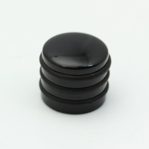 Estone New Metal Chrome Guitar Bass Hat Volume Tone Dome Blend Control Knobs - Dome Black Knob Metal