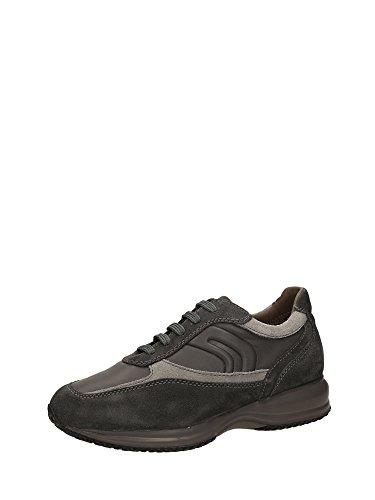 Geox U4462A Sneakers Hombre Cuero Rigido gris
