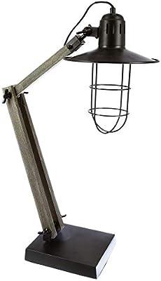 Lámpara de mesa - Estilo Industrial, Loft, Taller - Ajustable y ...