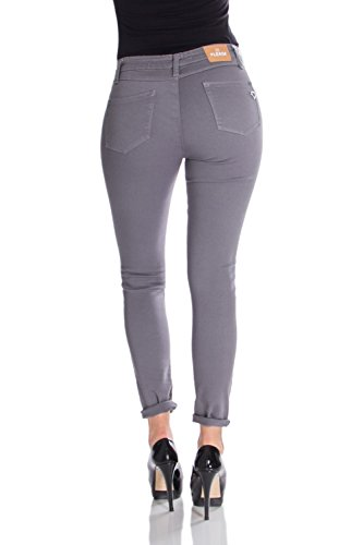 Please Donna Grigio Skinny Jeans P78l Stretch zzqwBTr