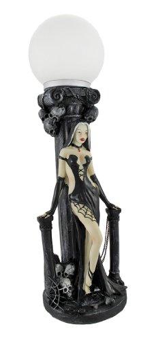Sexy Vampiress Globe Table Lamp Gothic Decor Vampire