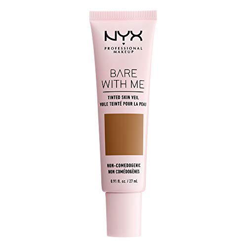 (NYX PROFESSIONAL MAKEUP Bare with Me Tinted Skin Veil, Cinnamon Mahogany, 0.9 Fluid)