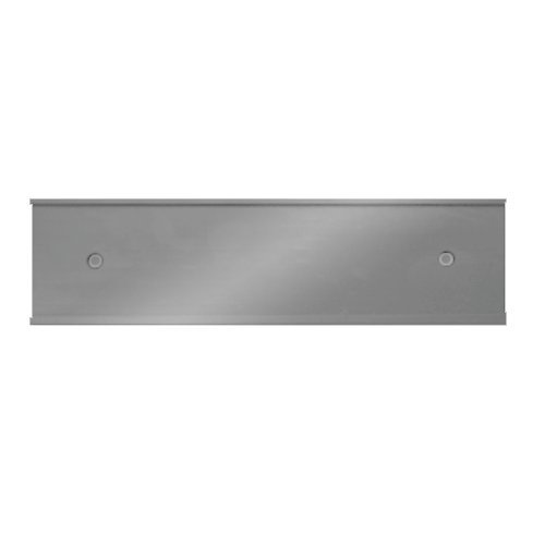 Wall Nameplate (Nameplate Holder - Wall or Door - Silver 8 x 2 - Made in the USA)