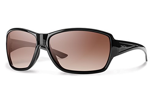Smith Optics Women's Pace Sunglasses, Black Frame, Sienna Gradient Carbonic TLT - Optics Tlt