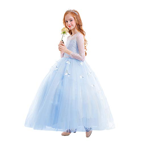 High End Flower Girl Dresses - FYMNSI Flower Girls Lace Appliques First