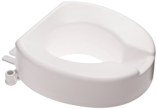 SP Ableware Tall-Ette 4-Inch Elongated Elevated Toilet Seat (725831004) by Maddak Inc.