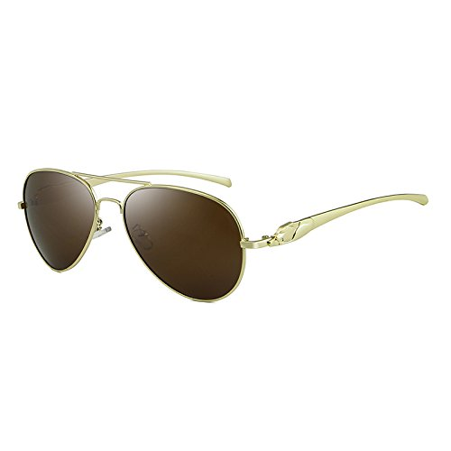 Hombre Gratis brown Sun de Sol Glasses Eyes Cicongzai Envío Gafas Cat Golden Mens Black Polarized Golden Mujer Golden Color UV400 xHfIq1