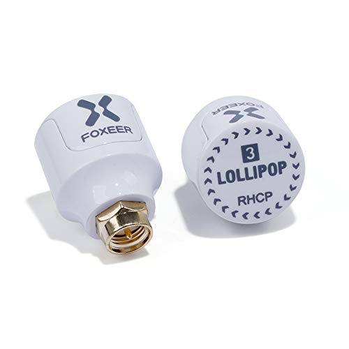 nidici FOXEER Lollipop-3 5.8GHz Stubby Antenna RHCP 2.5Dbi FPV Antenna SMA Male for FPV Racing Drone Fatshark Goggles TX RX (Pack of 2)
